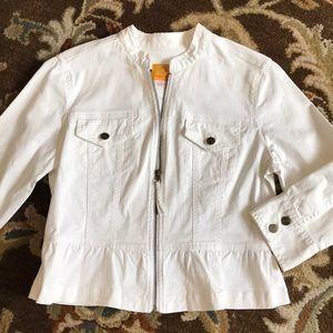 Ruby Rd white denim jacket size 8 NWOT